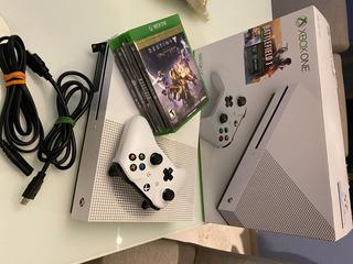 Consola Xbox One 500gb, 4k Color Blanco C/4 Videojuegos