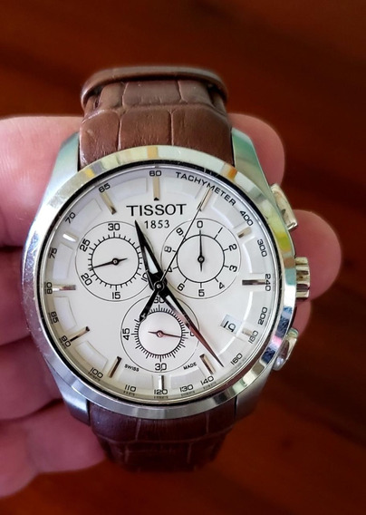 Relógio Tissot Com Pulseira De Couro