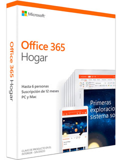 Office 365 Hogar 6 Usuario 1 Año Wind / Mac / Android / Ios