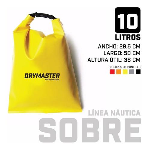 Imagen 1 de 5 de Bolso Estanco Sobre 10 Litros Drymaster Moto