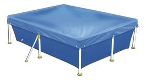 Capa Para Piscina Mor 1415 Premium Azul 6200 Litros
