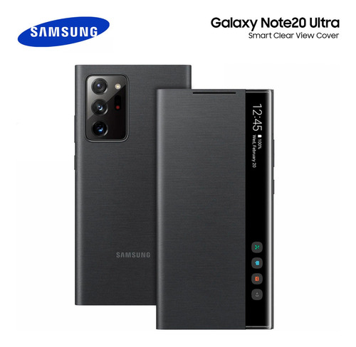 Flip Case Galaxy Note 20 Ultra Clear View Cover En Stock!!