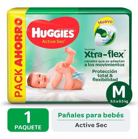 Pañales Huggies Active Sec Xtra-flex Promopack M G Xg Xxg