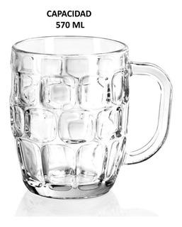 Tarro Cervecero De Vidrio Caja C/ 12 Piezas Cap. 570 Ml