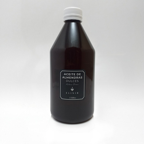 Imagen 1 de 3 de Aceite De Almendras 500ml Elixir Materia Prima Caba