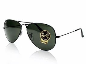 Oculos De Sol Ray Ban Aviador Preto Rb3025