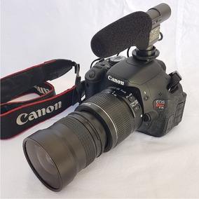 Câmera Canon T3i + Lente + Lente Fisheye + Bolsa + Microfone