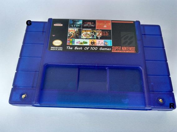 Fita Cartucho Super Nintendo Snes 102 Em 1 Donkey Kong1,2e3