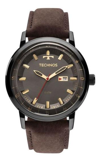 Relógio Technos 2115laq/2c Masculino Classic Golf Couro