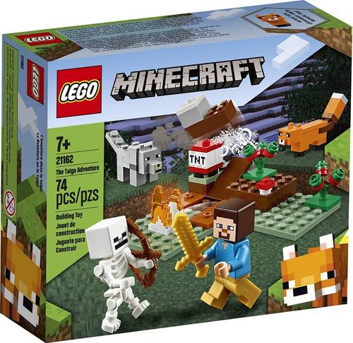 Juego Construcción Lego Minecraft Taiga Adventure Piezas 74