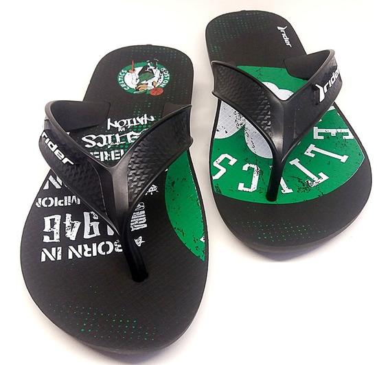 Chinelo Boston Celtics Nba Original Basquete Preto