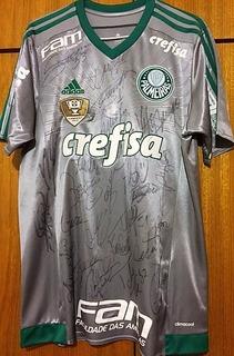 Camisa Do Palmeiras Brasileiro 2016 Jailson Jogo Autografada