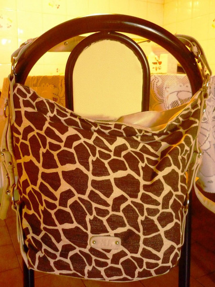 Cartera Xl Animal Print Impecable !