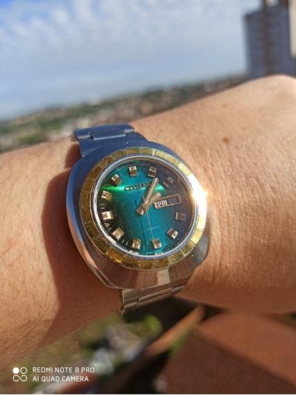 Deslumbrante Citizen 6501 Dourado Com Prata, Verde Metálico