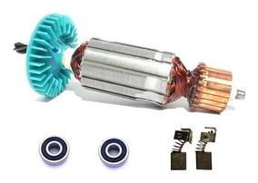 Induzido 110v + Rolamentos + Carvão Bosch 1546 Gks 7.1/4 New
