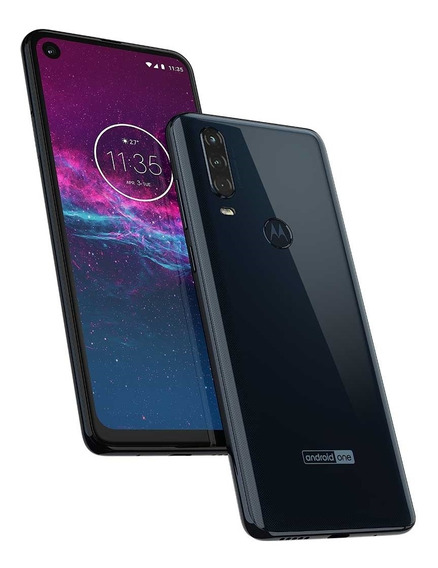 Smartphone Motorola One Action Tela 6,3 Android 9.0 Câmera Tripla 128gb Azul Denim