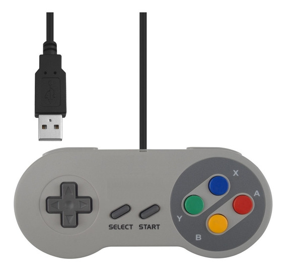Controle Super Nintendo Snes Usb Joystick : Pc , Mac E Linux