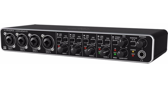 Interface De Audio Behringer U-phoria Umc404hd Umc 404hd Usb