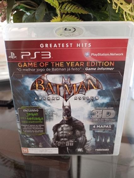 Batman Arkham Asylum Oportunidade Mídia Física Ps3