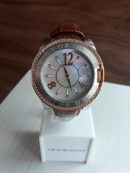 Relógio Victor Hugo Vh10123 + Garantia De 1 Ano + Nf