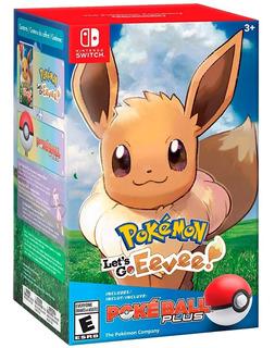 Pokémon Lets Go Eevee + Pokeball Plus Nintendo Switch
