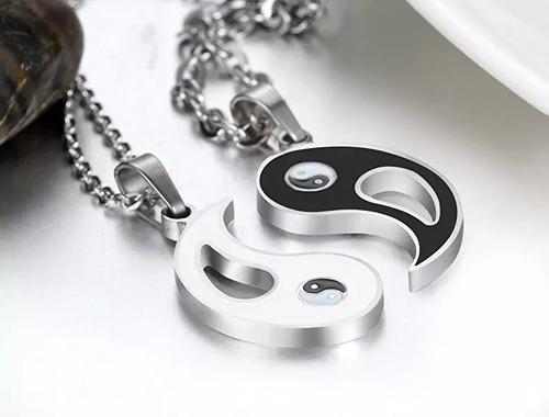 Collar Yin Yang Acero Enamorados Parejas Amigas Envio Gratis