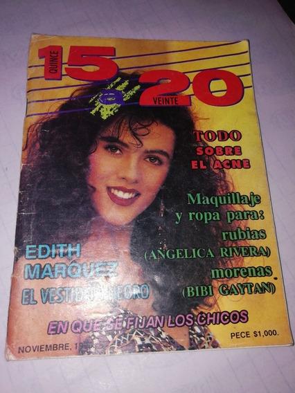 Revista 15 A 20 Edith Márquez El Vestidito Negro 1990