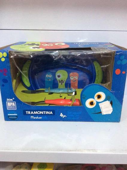 Tramontina Monsterkids Kit Com 4 Pcs Plastico Ref 23799-199