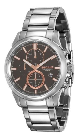 Relógio Masculino Seculus Cronógrafo 13023g0svna3 Prata