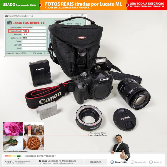 Canon Dslr T1i + Lente 18-55mm Is Stm +tubo Macro +bolsa |2b