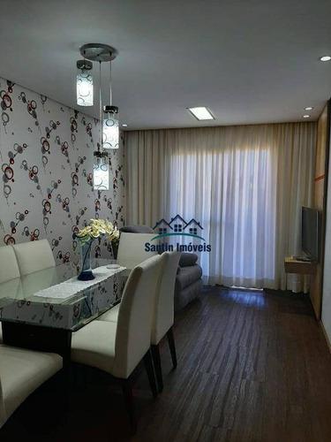 Apartamento De 77 M² Com 03 Quartos Planejados (sendo 01 Suíte) À Venda, Por R$ 360.000 - Vila Príncipe De Gales - Santo André/sp - Ap1959
