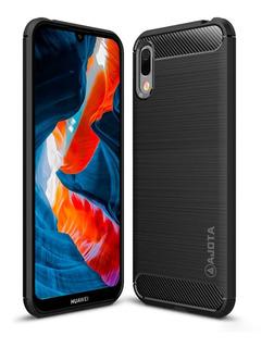 Forro Ajota Fibra De Carbono Huawei Y6 2019 / Honor 8a