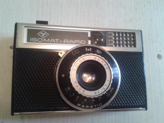 Maquina Fotográfica Agfa Isomat Rapid Vintage Alemã
