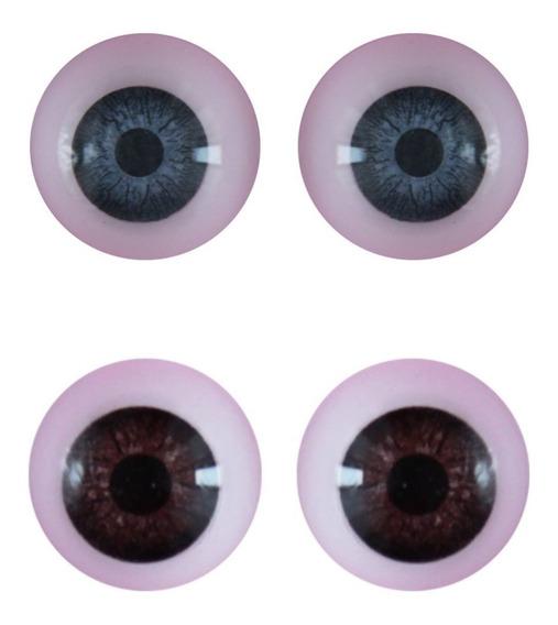 Ojos Redondos Nro 18 Reales Duendes Muñecos Muñecas X 10u