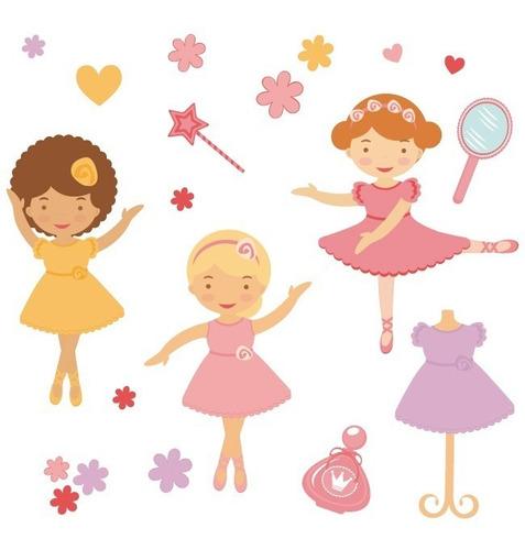 Vinilo Decorativo Niños-i 02, Calcomanía Bailarinas Ballet