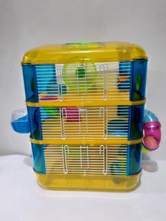 Jaula Hamster 3 Piso En Acrílico De Colores.