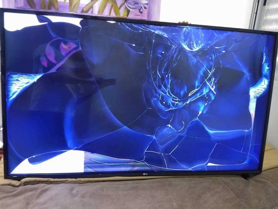 Smart Tv Lg 55 Polegadas - Tela Quebrada - Promoção