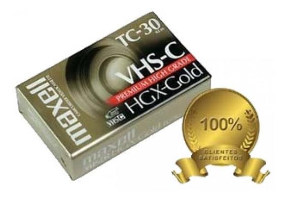 Videocassette Vhs-c Tc-30 Maxell Para Filmadoras