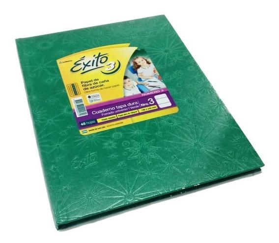 Cuaderno Exito Universo 3 Tipo Abc Verde Rayado 19x24cm T/d