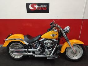 Harley Davidson Softail Fat Boy Flstf Abs 2012 Amarela