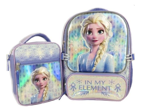Mochila Con Lonchera Frozen 2 Lila