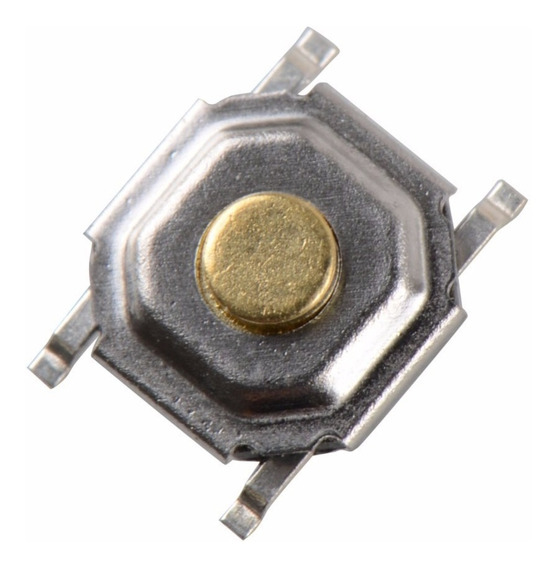 Botão Smd Tactil 4 Pinos 4x4x1.5mm - 20 Unidades