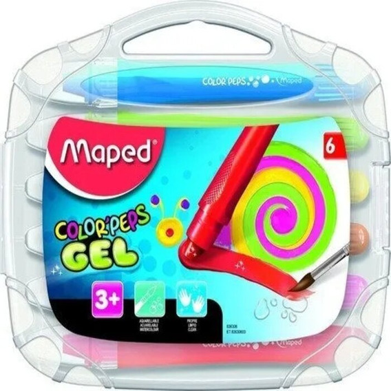 Crayones Gel Maped Color Peps X6 Lavables Acuarelables Full