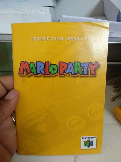 Manual Game Mario Party N64 Nintendo 64 Raro