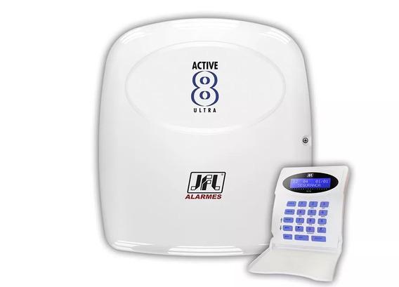 Alarme Monitorado Jfl Active 8 Ultra Com Teclado Lcd