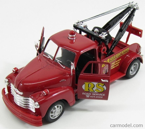 Auto Welly Camioneta Chevrolet Tow Truck 1953 Escala 1:24