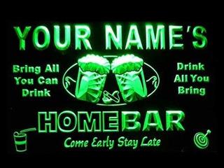 P-tm-g Nombre Personalizado Home Bar Bar Beer Neon Light