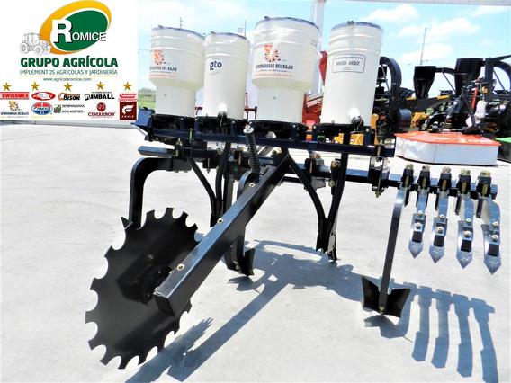 Sembradora Fertilizadora C/ Cultivadora 2 Surcos Del Bajio