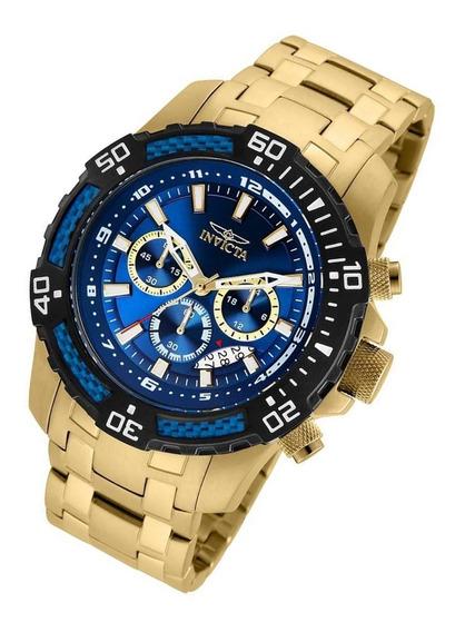 Relógio Invicta Pro Diver 24856 Original Banhado Ouro 18 K