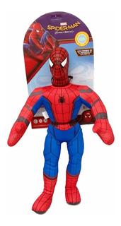 Muñeco Soft Sonido Super Heroes Spiderman New Toys Educando